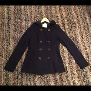 Aeropostale navy blue pea coat - NEW